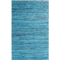 Hand-tufted Loft Varigated Stripe Multi/ Blue Rug (8' x 11')