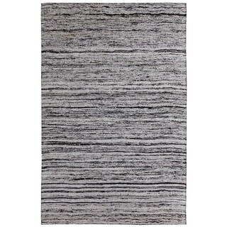 Hand-tufted Loft Varigated Stripe Multi/ Silver Rug (8' x 11')