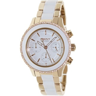 DKNY Women's White Ceramic Quartz Watch