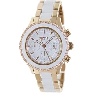 DKNY Women's White Ceramic Quartz Watch