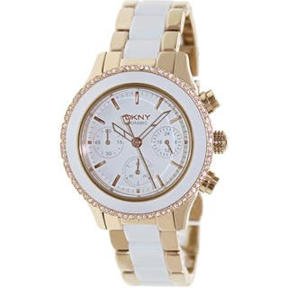 DKNY Women's White Ceramic Quartz Watch|https://ak1.ostkcdn.com/images/products/8389958/8389958/DKNY-Womens-White-Ceramic-Quartz-Watch-P15692733.jpg?impolicy=medium