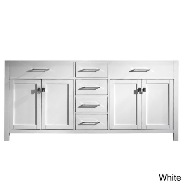 Virtu USA Caroline 72 Inch Double Sink Bathroom Vanity Cabinet   Free  Shipping Today   Overstock.com   15692800