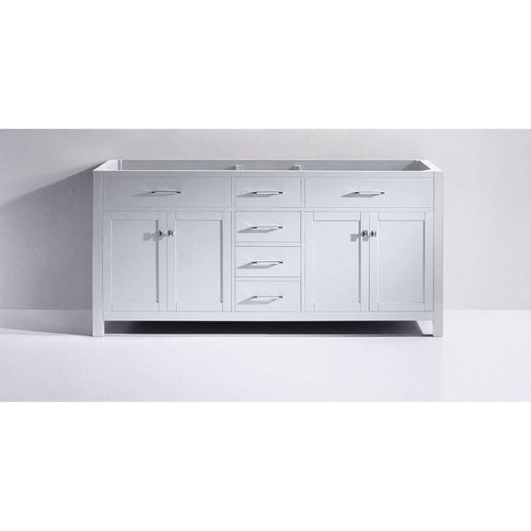Elegant Virtu USA Caroline 72 Inch Double Sink Bathroom Vanity Cabinet   Free  Shipping Today   Overstock.com   15692800