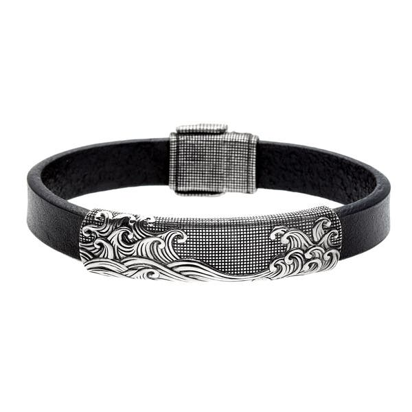 Pre Owned David Yurman Sterling Silver And Black