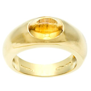 Pre-owned Tiffany & Co. 18k Yellow Gold Citrine Estate Ring