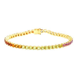 Pre-owned H. Stern 18k Yellow Gold Multi-Precious Stone Bracelet