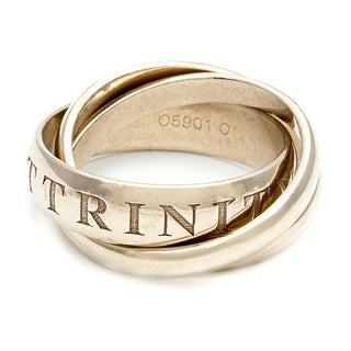 Pre-owned Cartier 18k Yellow Gold Trinity Ring