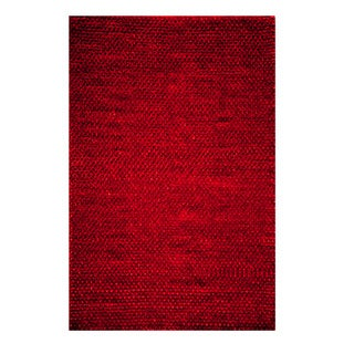 Modern Town Hand-woven Red Area Rug (5' x 7')
