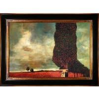 Gustav Klimt 'High Poplar' Hand Painted Framed Canvas Art