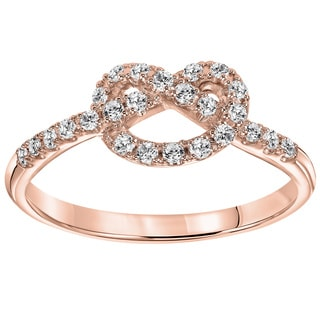 Cambridge 10k Gold 1/4ct TDW Diamond Infinity Knot Ring