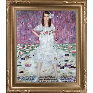Gustav Klimt 'Portrait of Mada Primavesi' Hand Painted Framed Canvas Art