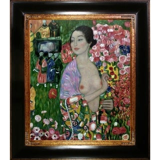 Gustav Klimt 'The Dancer' Hand Painted Framed Canvas Art