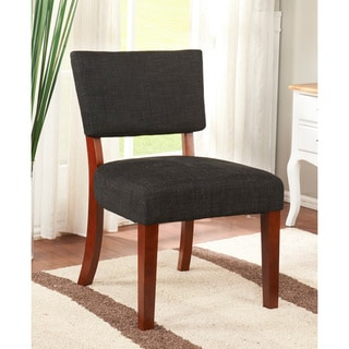 K&B Black Linen Accent Chair