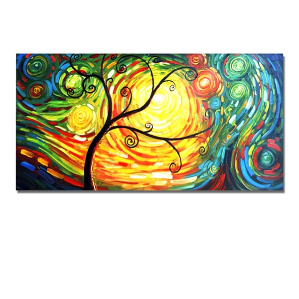 Shop \'Wonder Tree\' Hand Painted Canvas Art - Free Shipping Today ...