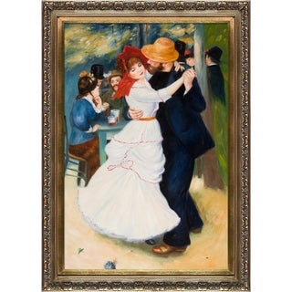 Pierre-Auguste Renoir 'Dance at Bougival' Hand Painted Framed Canvas Art