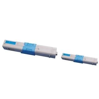 Insten Premium Cyan Color Toner Cartridge 44469721 for Okidata C530/ C530dn