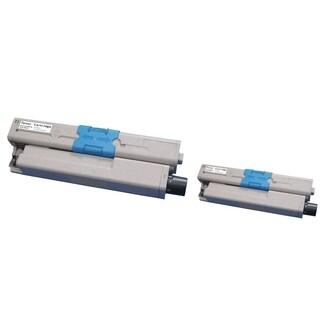 Insten Premium Black Color Toner Cartridge 44469802 for Okidata C530/ C530dn