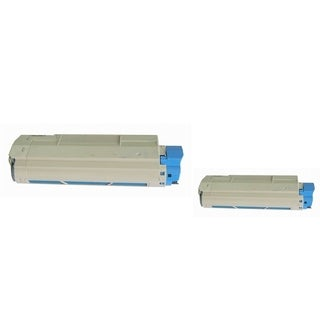 Insten Premium Cyan Color Toner Cartridge 44315303 for OKI C610