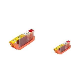 INSTEN Yellow Ink Cartridge for Canon CLI-251XLY (Pack of 2)