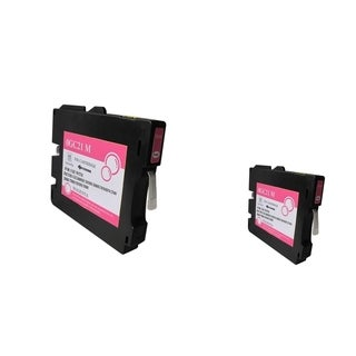 Refilled Insten Magenta Non-OEM Ink Cartridge Replacement for Ricoh GC 21M/ GC 21HM