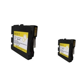 INSTEN Yellow Ink Cartridge for Ricoh GC21/ GC21HY (Pack of 2)