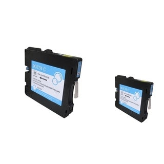 INSTEN Cyan Ink Cartridge for Ricoh GC31/ GC31HC (Pack of 2)