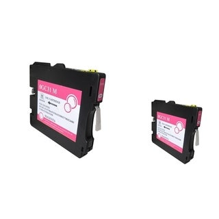 INSTEN Magenta Ink Cartridge for Ricoh GC31/ GC31HM (Pack of 2)