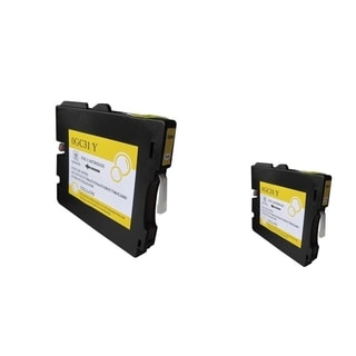 INSTEN Yellow Ink Cartridge for Ricoh GC31/ GC31HY (Pack of 2)