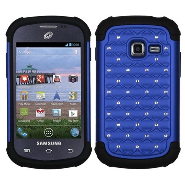 INSTEN Blue/ Black TotalDefense Phone Case Cover for Samsung S738C Galaxy Centura