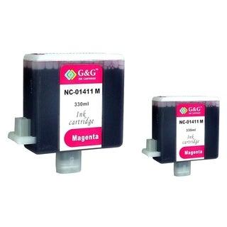 INSTEN 2-ink Magenta Cartridge Set for Canon BCI-1411M