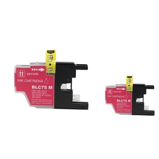INSTEN 2-ink Magenta Cartridge Set for Brother LC75 M
