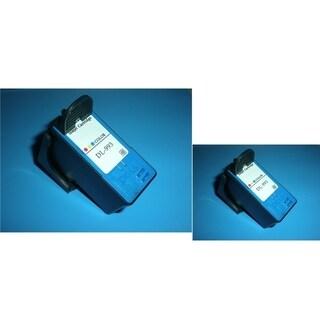 INSTEN Dell MK993 2-ink Color Cartridge Set (Remanufactured)