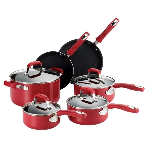 Guy Fieri Nonstick Aluminum 10-piece Cookware Set Red