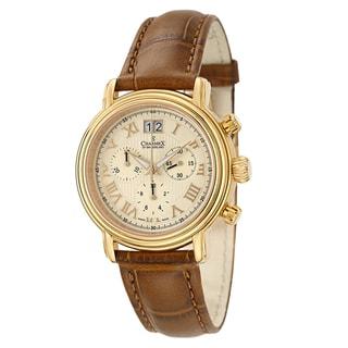 Charmex Men's 'Monaco' Yellow Goldplated Steel Chronograph Watch