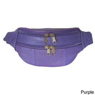 Amerileather Top-grain Cowhide Leather Belted Fanny Pack (More options available)