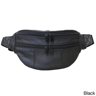 Amerileather Top-grain Cowhide Leather Belted Waist Pack