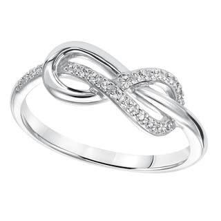 cambridge sterling silver 110ct tdw diamond infinity ring - Infinity Wedding Rings