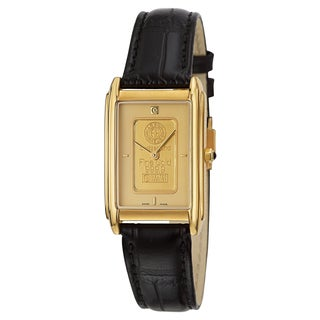 Charmex Men's 'Ingot' Yellow Gold-plated Stainless Steel Watch