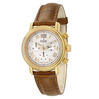 Charmex Men's 'Monaco' Yellow Goldplated Chronograph Watch