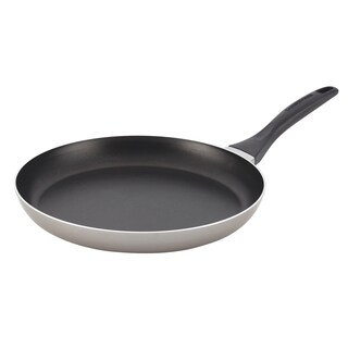 Farberware Dishwasher Safe Nonstick 12-inch Open Shallow Skillet, Champagne