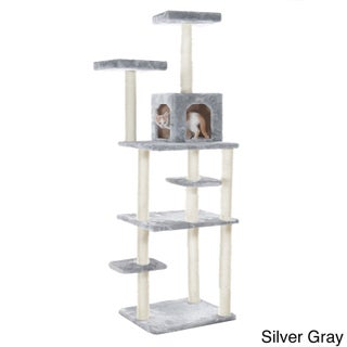 GleePet 74-inch Cat Tree (Option: Silver Gray)