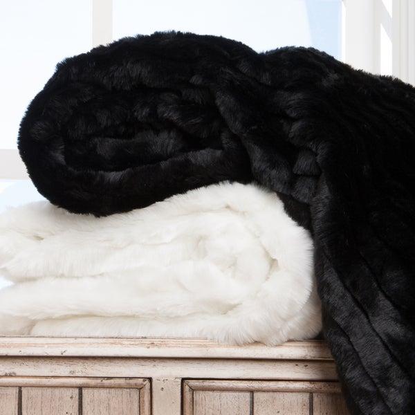 Plush Faux Fur Throw