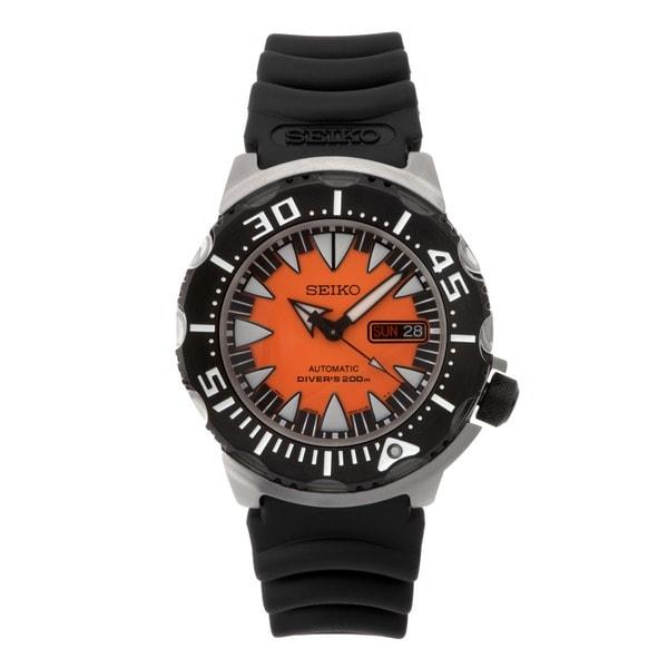 Seiko men 39 s diver 39 s automatic orange dial black rubber strap watch srp315 free shipping - Orange dive watch ...