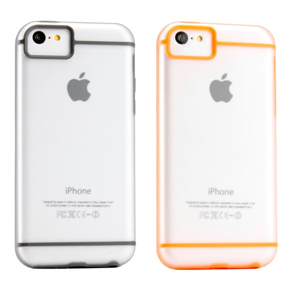Gearonic Matte Hybrid Hard PC Back Cover TPU Frame Case for iPhone 5C
