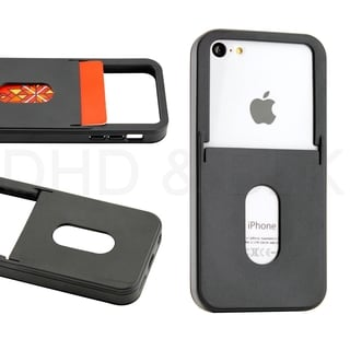 Gearonic Black TPU GEL Skin Case Back Cover Card Slot For iPhone 5C