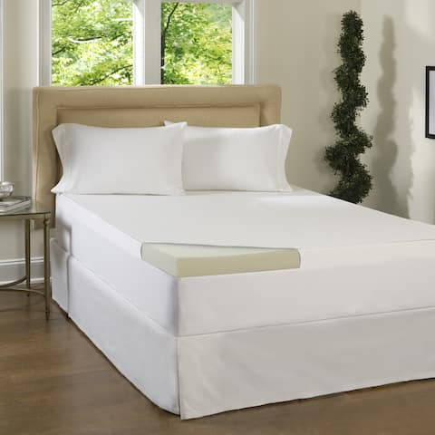 Comforpedic Loft from Beautyrest 3-inch Memory Foam Topper with Egyptian Cotton Cover