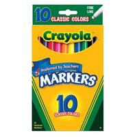 Fine Point Classic Colors Non-Washable Markers Set of 10