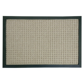 Rubber-Cal 'Nottingham' Tan Carpet Mat (18 x 30 inches)