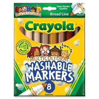 Multicultural Colors Conical Point Washable Markers Pack of 8