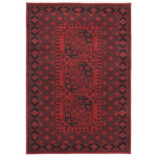Hand-knotted Zara Red Wool Rug (4'1 x 6'0)